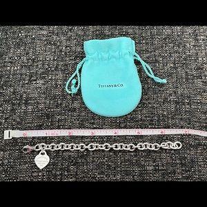 Tiffany & Co. heart tag charm bracelet, silver